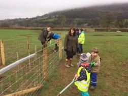 Community Woodland group at work!