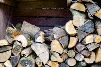 Firewood provided for the two log burners