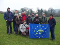 A visiting EU group from Poland hosted by Vincent Wildlife Trust
